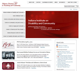 Indiana  Institute on Disability and Community Screen Shot